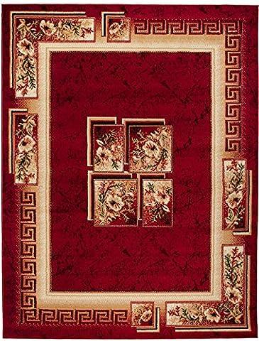 Tapis Conforama Rouge - Grand Tapis De Salon - Rouge -