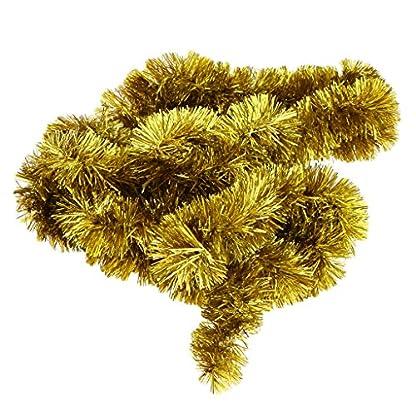 Baoblaze-23-M-Hngende-Lametta-Girlande-Folien-Girlande-Weihnachts-Hochzeits-Geburtstagsgirlande