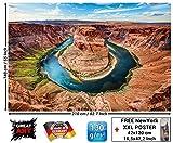 Un papel pintado fotográfico con la curva de la herradura del Gran Canyo n - Colorado River cerca de la ciudad de Page en el Estado de Arizona - decor