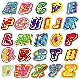 Parches para ropa, diseño de letras del alfabeto, 26 unidades, parches para bordar, parches de hierro, para camiseta, pantalones vaqueros, sombrero