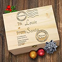 TWISTED ENVY Personalised Santa's Reindeer Delivery Service Laser Etched Christmas Eve Wooden Gift Box