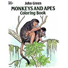 Monkeys and Apes Coloring Book (Dover Nature Coloring Book)
