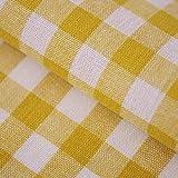 Hans-Textil-Shop Stoff Meterware Karo 1x1 cm Gelb Baumwolle
