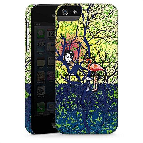Apple iPhone X Silikon Hülle Case Schutzhülle Flamingo Wald Zaubern Premium Case StandUp