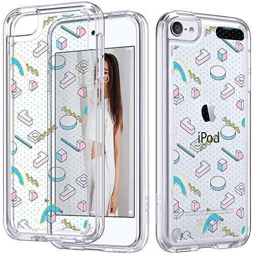 �lle, iPod 6 Hülle, Marmor, für iPod Touch 6, transparent, schlank, Kratzfest, flexibel, weiches TPU, stoßfest, Schutzhülle für Apple iPod Touch 5/6, 3D Shapes ()