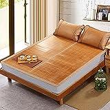 Klimatisierte Matte Sommer-Schlafmatte Bambus-Teppich Doppelseitig Verfügbar Coole Matratze Faltbare 1,5m 1,8m 3-teiliges Studentenwohnheim Smooth Mat (größe : 1.8m (6 ft) bed)