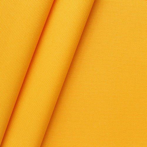 STOFFKONTOR Oxford Polyester Gewebe 600D Stoff Meterware Signal Gelb
