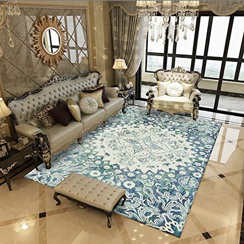 Traditionelle Orientalische Teppich (Rug Modern Schäbig Schick Traditionell Teppich Jahrgang Blumen orientalisch Teppiche Betrübt zum Zuhause Leben Essen Zimmer Teppich GTMYUK,K,140x200cm)