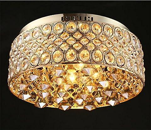 FYN Modern Boucle de Cristal à 4 Chemins Bijoux Diamant Effet Droplet Plafonnier Plafonnier Lustre D38.2 X