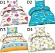 Tolle Kinder Baby Microfaser Bettwäsche mit Reißverschluss 100x135 + 40x60 cm, Design - Motiv:Design 2