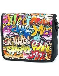 Schul Schulter Tasche Umhängetasche Messenger Bag Laptop Jungen Mädchen 21814