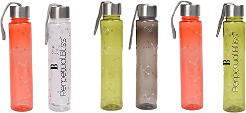 Perpetual Bliss (Pack of 6) Fancy Transparent Water Bottle 500ML, Return Gifts for Kids Birthday Party (for More Gifts Search for Perpetual Bliss)