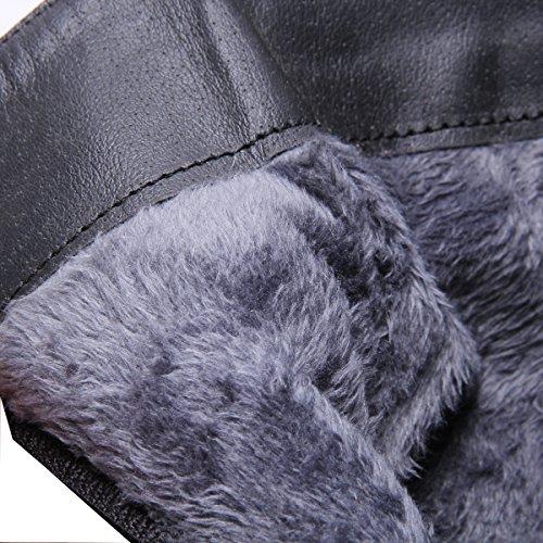 YE Damen Lackleder Wildleder High Heels Plateau Stielfel Zum Schnüren Stiletto Winter Warm Gefüttert mit 13cm Absatz Boots Rot