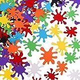 meekoo 200 Pièces Confettis d'Éclaboussure de Peinture Confettis de Table de Splash de Peinture d'art pour Décorations de Fête d'anniversaire d'Art, 8 Couleurs...