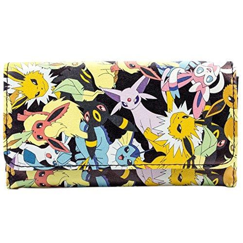 ee Evolutions Schwarz Portemonnaie Geldbörse (Eevee Pokemon Kostüm)