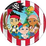 Disney 20cm Jake und die Nimmerland Piraten Party Teller, 8Stück