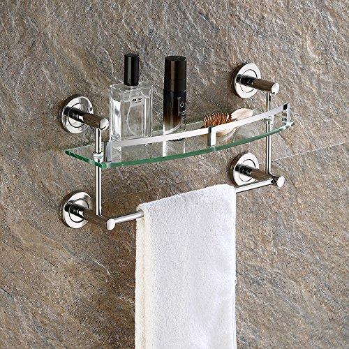 Support de salle de bains / mur en verre trempé, ( taille : 40 cm )
