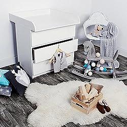 Cambiador De Cómoda Bordes Dimensiones 78/80/10 Cm Encaja En Cómoda MALM De Ikea Diferentes Modelos Color Blanco, Farbe:Type A