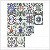 FoLIESEN Fliesenaufkleber für Bad und Küche - 20x25 cm - Fliesenbild Patchwork 2-16 Fliesensticker für Wandfliesen