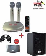 Persang karaoke 8167-EX Dual Wireless Karaoke System Set (Golden)
