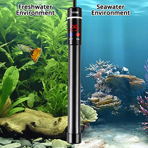 NICREW Titanium Submersible Aquarium Heater 100W, Fish Tank