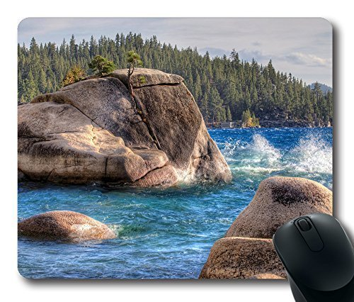 Gaming Mouse Pad Bonsai Rock Oblong Shaped Mouse Mat Design Natural Eco Rubber Durable Computer Desk Stationery Accessories Mouse Pads For Gift Support Wired Wireless or Bluetooth Mouse - Bonsai Rock