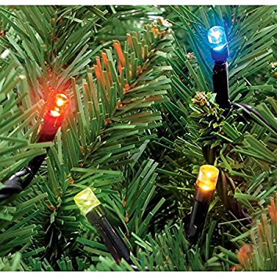 200 Multi Coloured Static LED Christmas Lights - Outdoor or Indoor