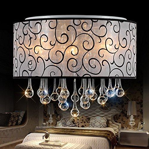 GK-Einfache und stilvolle Wohnzimmer ist gemütlich und romantisch Schlafzimmer Hellbraun aus Treppen Flure led Deckenleuchte kristall Gewebe objektiv Durchmesser 40 cm
