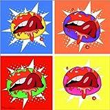 Póster 100 x 100 cm: lips de Mark Ashkenazi - impresión artística de alta calidad, nuevo póster artístico