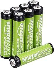 AmazonBasics Vorgeladene Ni-MH AAA-Akkus - Akkubatterien (1.000 Zyklen, typisch 800mAh,  1.2 V ,minimal 750mAh) 8 Stck (Äußer