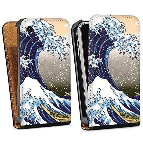 Apple iPhone 5c Housse Étui Protection Coque Katsushika Hokusai Japon Art Sac Downflip noir