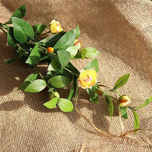 BAIXUE Emulation Blume Fünf Peony Bouquet Home Dekoration Hochzeit Bouquet Blumen Road Flower Wandbild Künstliche Blumen. Grün/Transparent