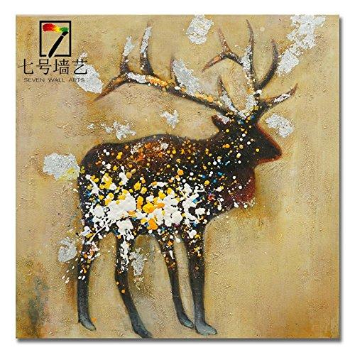 Moose dorati a mano pittura decorativa puro dipinti a mano olio su tela dipinti (Moose Ritratto)
