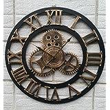 Reloj de pared de metal precisa --- Reloj de pared de madera creativa Reloj de pared de pared de reloj de pared grande reloj de pared 40/50/60 / 80cmFestive regalos --- 1 x pila AA (no incluidas) ( Color : 50cm , Tamaño : A )