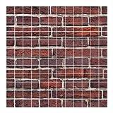 Bilderwelten Fliesenbild - Backstein rot - Fliesensticker Set, Fliesengröße: 10 cm x 10 cm, Größe HxB: 60cm x 60cm