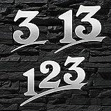 Hausnummer Edelstahl Sonderanfertigung (2-stellig / 16cm Ziffernhöhe) - 16cm 20cm 30cm - ORIGINAL ALEZZIO DESIGN - V2A - Türschild - Größer auf Anfrage - Rostfrei - WITTERUNGSRESISTENT …