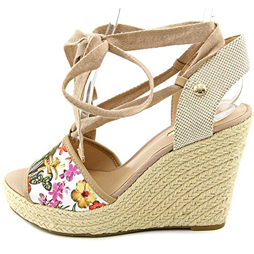 Guess Eylyna 2 Toile Talons Compensés Green Multi
