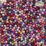 Whonline 1000 4mm bunte künstliche Perlen geeignet für Schmuckherstellung und Heimwerken Halskette Armband von den Kindern