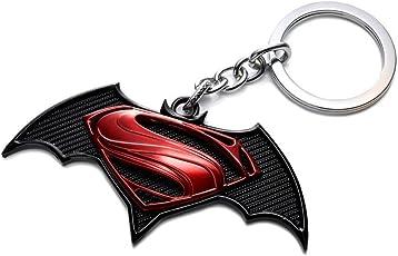 Rainsound Black ,Red Batman Vs Superman Logo Keychain