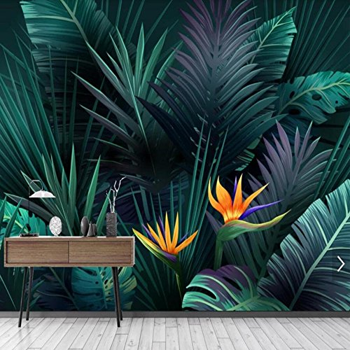 tapete abstrakt abwaschbar 1m2 Abstract Plant Rainforest Banana Leaves Leaf Photo Mural Wallpaper For Living Room Wall Decor Paper Wall 3d Forest Banana Leaf House