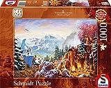 Schmidt Spiele Puzzle 59481 - Thomas Kinkade, Ice Age, 1.000 Teile Puzzle
