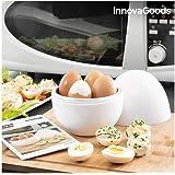 Innovagoods bb_V0101051 Cuociuova per Microonde Con Ricettario Boilegg, Bianco