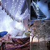 Criacr Solar Powered String Lights, (100 LED 2 Modes) Starry Fairy Lights, 33 ft/10m Solar Fairy Lights, Waterproof 1.2 V Portable with Light Sensor for Patio, Garden, Home, Wedding, Party (White) Bild 2