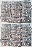 Wonkey Brothers Mouchoirs en papier Taille par portefeuille, 3-Ply Pocket pack Format Slim, Fit Parfait pour les petits sac ou poches, Paisley Design souple, 10 Tissues par pochette Paquet de 40 Packs