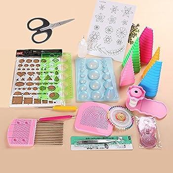 GLOGLOW 1/Set DIY Quilling Papier Craft Rolling Kit Home Office Dekoration Papier Crafts DIY Schlitz Tools Streifen Pinzette Papier Craft Quilling Kit