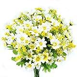 Embalaje: 4ramilletes de Flores artificial pequeñas. Generalmente 4 flores artificiales pueden llenar un pequeño florero.Material: seda de alta calidad.  Longitud total aprox. 37cm, cada ramillete tiene 7tallos con hojas de plástico ajusta...