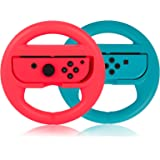 PowerLead Volante per Controller Nintendo Switch, Plastica/ABS Volante 2 Packs Racing Game Compatibile con Mario Kart, Volant
