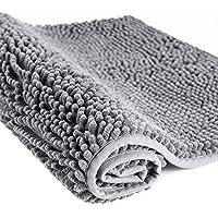 Superbe tapis de salle de bains doux d'Ohuhu, 50x80cm tapis de bain de Shaggy Chenille en Microfibre anti dérapant pour la chambre à coucher, cuisine