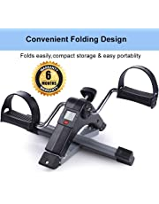 The Brand -Owme Fitness Cycle - Foot Pedal Exerciser - Foldable Portable Foot, Hand, Arm, Leg Exercise Pedaling Machine - Folding Mini Stationary Bike Pedaler Fitness gym Equipment for Seniors Digital home gym