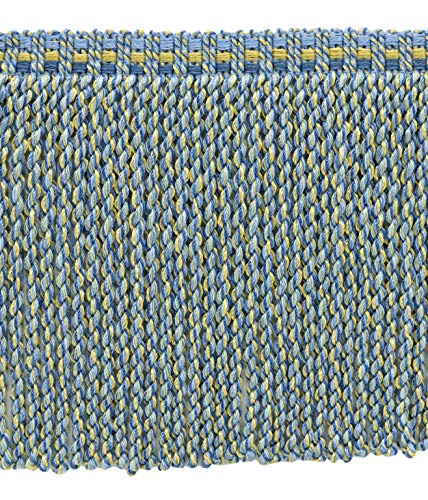 Confezione da 4,6 metri di colore oro champagne, blu cadet, blu francese, 15 cm, frangia decorativa stile #: bfv6Â colore: vnt13 – azzurro oro